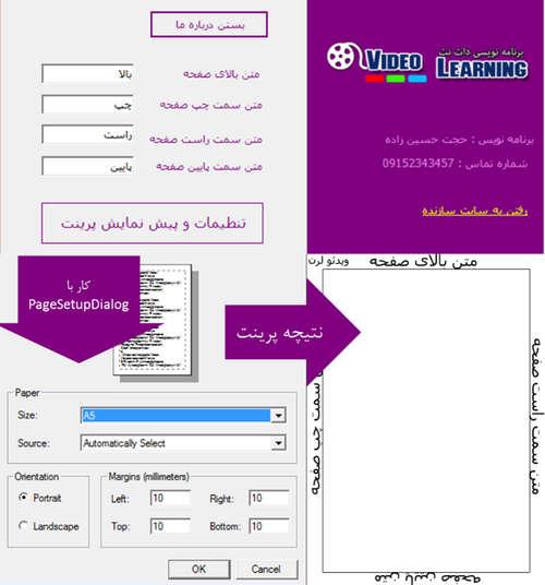 سورس تنظیمات صفحه برای پرینت - #C و VB.NET