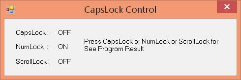 سورس تشخیص کلید های CpasLock ، NumLock در #C و VB