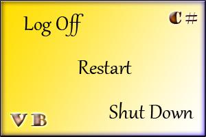 Shut Down  -  Restart - Log Off با کد نویسی