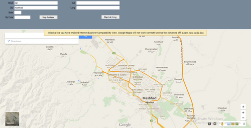 سورس نمایش مکان در گوگل مپ با مختصات - #C و VB